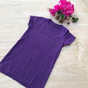 Lululemon Purple Run Swiftly Tee Shirt #785